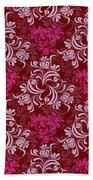 Elegant Red Floral Design Bath Towel