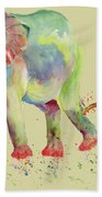 Elephant Family Watercolor  Hand Towel by Melly Terpening