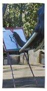 Elephant Painting Bath Towel