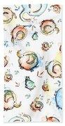 Elephant Pattern Watercolor Bath Towel