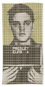Elvis Army Mug Shot - Gold Bath Towel