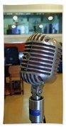 Elvis Presley Microphone Bath Sheet by Mark Czerniec