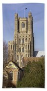 Ely Cathedral West Tower Bath Towel