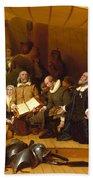 Embarkation Of The Pilgrims Bath Towel