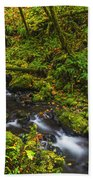 Emerald Falls And Creek In Autumn  Bath Towel
