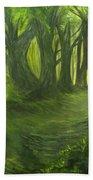 Emerald Forest Bath Towel