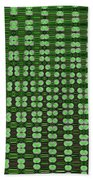 Emerald Green And Oak Stump Abstract Bath Towel