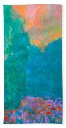 Emerald Mist Bath Towel by Kendall Kessler