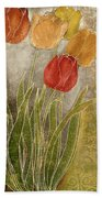 Emily Damask Tulips IIi Bath Towel