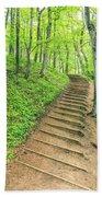 Empire Bluffs Trail Steps In Michigan Bath Towel
