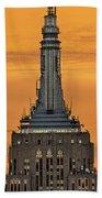Empire State Building Esb Broadcasting Nyc Bath Towel