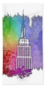 Empire State Of Mind Cool Rainbow 3 Dimensional Bath Towel
