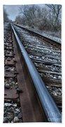 Empty Railroad Tracks Bath Towel