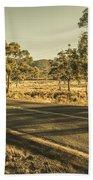 Empty Regional Australia Road Bath Towel