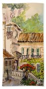 En Plein Air At Moulin De La Roque France Bath Towel