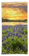End Of A Bluebonnet Day Bath Towel