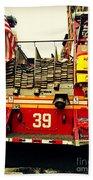 Engine 39 - New York City Fire Truck Bath Towel