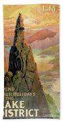 England Lake District Vintage Travel Poster Hand Towel