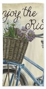 Enjoy The Ride Vintage Hand Towel