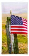 Enriched American Flag - Remember Bath Towel