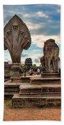 Entrance To Angkor Wat  Bath Towel