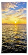 Epic Colorful Sunset On Sea Bath Towel