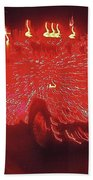 Ernst Haas Homage Fire Truck Electric Lights Xmas Parade Casa Grande Az 2001 Bath Towel