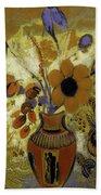 Etrusian Vase With Flowers Bath Towel