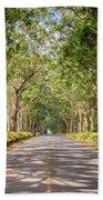 Eucalyptus Tree Tunnel - Kauai Hawaii Bath Towel