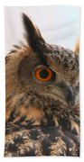 Eurasian Eagle-owl Bath Towel