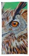 Eurasian Eagle-owl Bath Towel