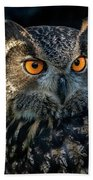 Eurasian Eagle Owl Bath Towel