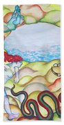 Eve Being Chased Out Of The Garden Of Eden Bath Towel