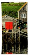Evening At Peggys Cove Hand Towel
