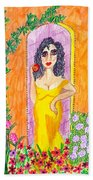 Evening At The Girl Cave Hand Towel