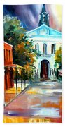 Evening On Orleans Street Bath Towel