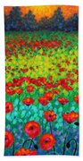 Evening Poppies Bath Towel