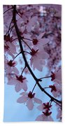 Evening Sky Pink Blossoms Art Prints Canvas Spring Baslee Troutman Bath Towel