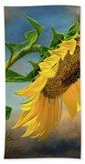 Evening Sunflower Bath Towel