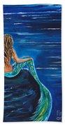 Evening Tide Mermaid Bath Towel