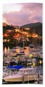 Evening Twilight At Oyster Pond, St. Martin Bath Towel