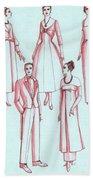 Evening Wear, 1956 Bath Towel