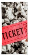 Event Ticket Lying On Pile Of Popcorn Bath Towel
