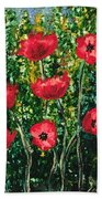 Every Dream Turns Up Poppies Bath Towel