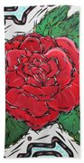 Every Rose Has Its Thorns Bath Towel
