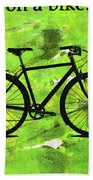 Everything Is Better On A Bike Bath Towel