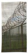 Exercise Yard Through Window In Prison Bath Towel