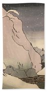 Exiled Buddhist Cleric Nichiren In The Snow Hand Towel