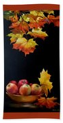 Expression Of Yellow Leaves. Hand Towel