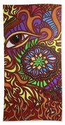Eyes Of Fire Bath Towel